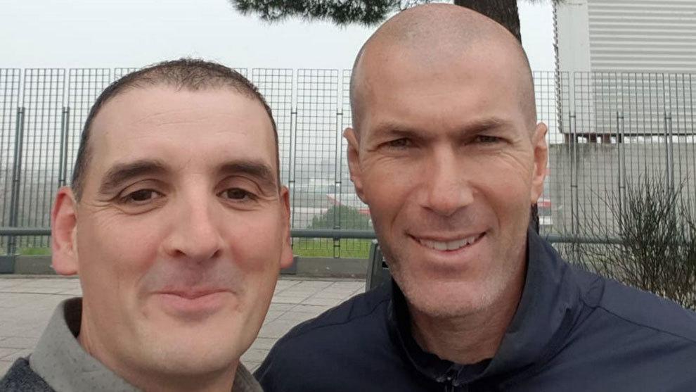 Ignacio Fernández y Zinedine Zidane.