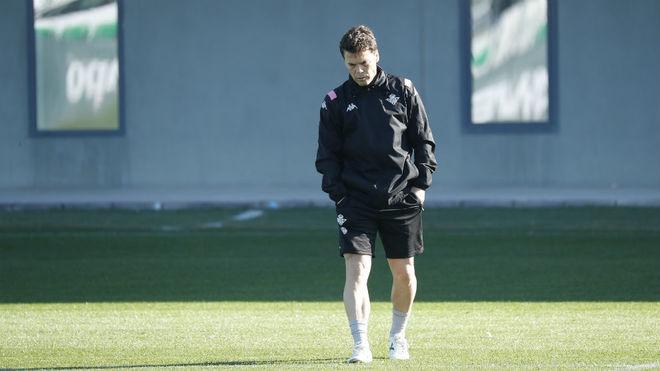 Betis coach Rubi thoughtfully.