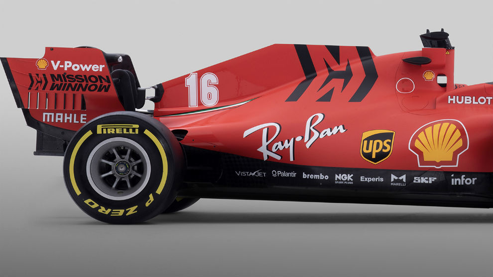 El logo de 'Misson Win Now' de la discordia en el nuevo Ferrari SF1000