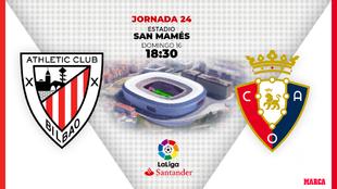 Athletic - Osasuna: horario y dónde por television hoy el partido de...