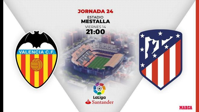 Valencia - Atletico de Madrid o: schedule and day