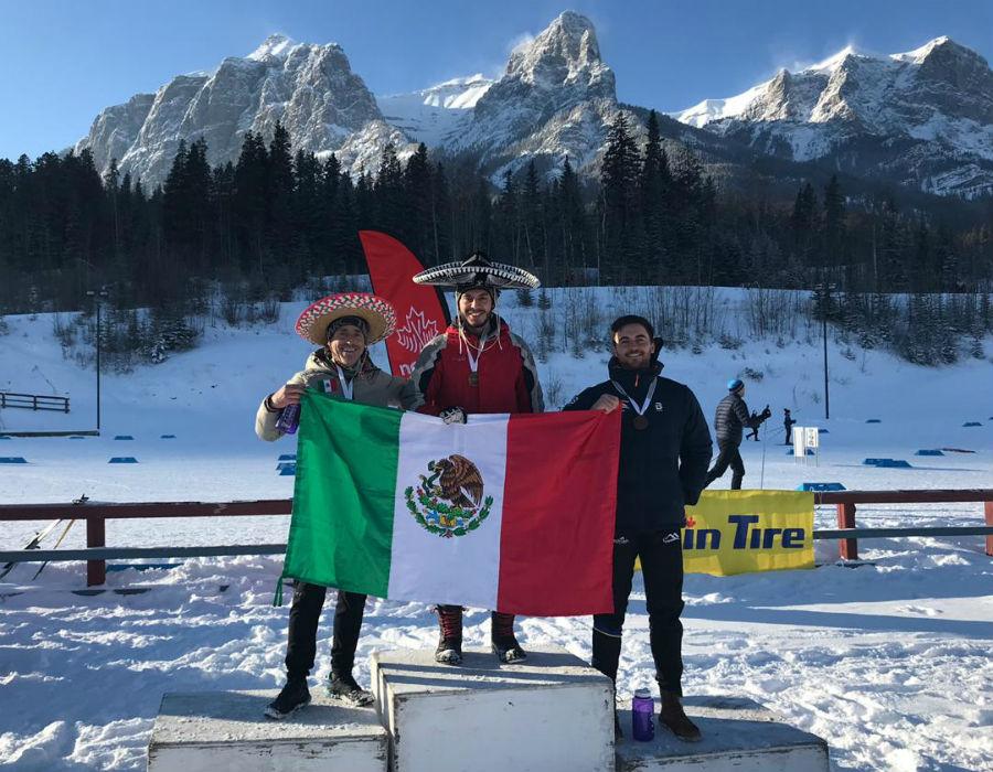 Podio del primer campeonato mexicano de esquí nórdico | Luis...