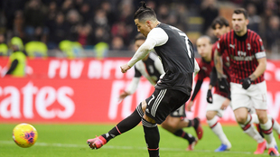Cristiano marcó el penalti con el que la Juve empató.