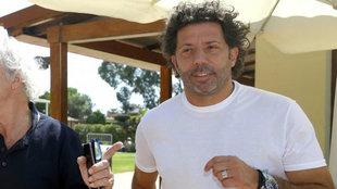 Iván Campo, durante una comida de ex jugadores del Valencia.