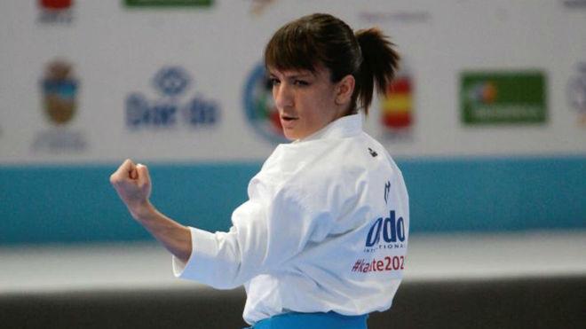 Sandra Sánchez, en una competición.