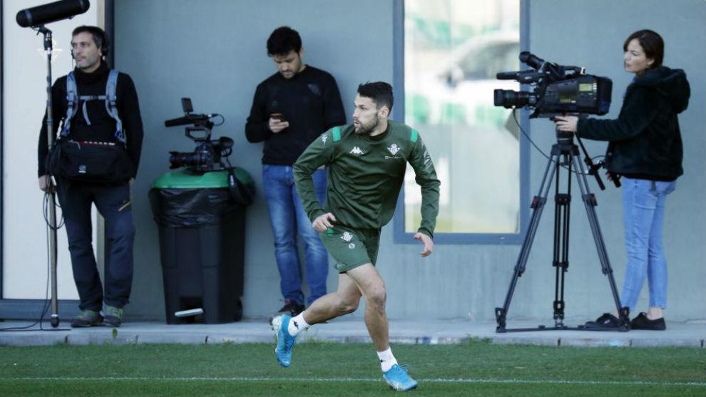 Pedraza, en un entrenamiento reciente.