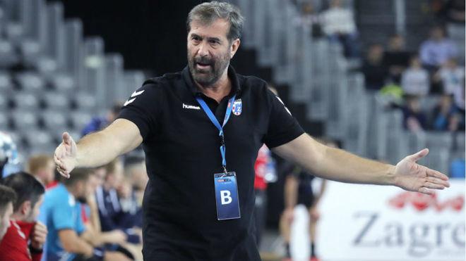 El técnico montenegrino del RK Zagreb, Veselin Vujovic /