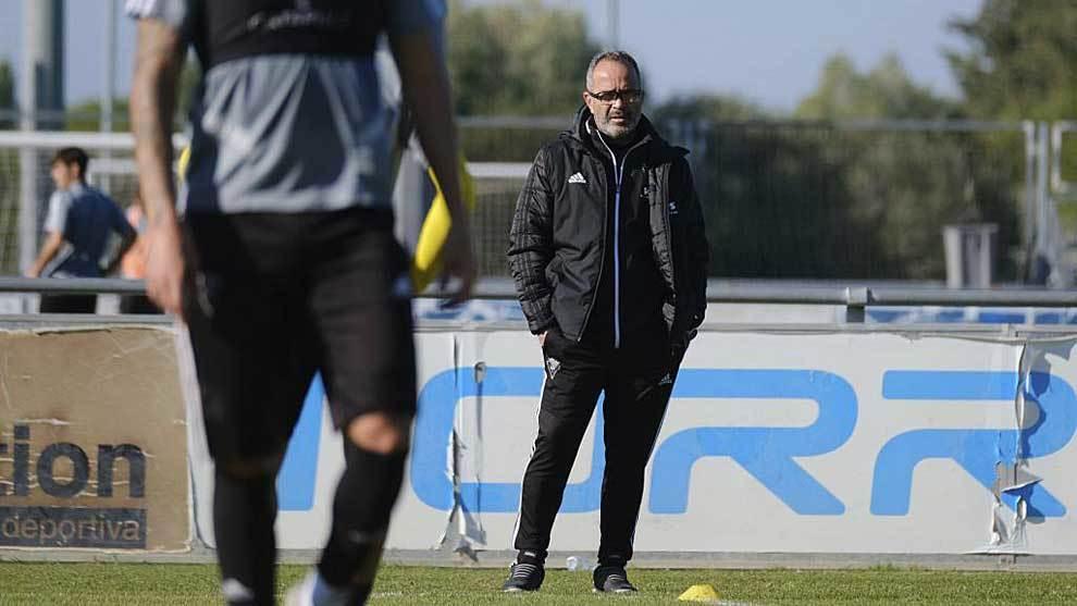 Álvaro Cervera, durante un entrenamiento en El Rosal