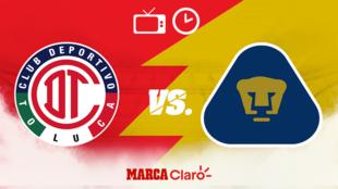 Toluca vs Pumas: Horario y dónde ver.
