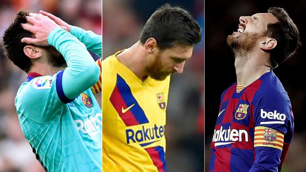 Messi, en tres partidos recientes en Mestalla, San Mamés y Camp Nou