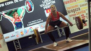 Lydia Valentín durante la competición.