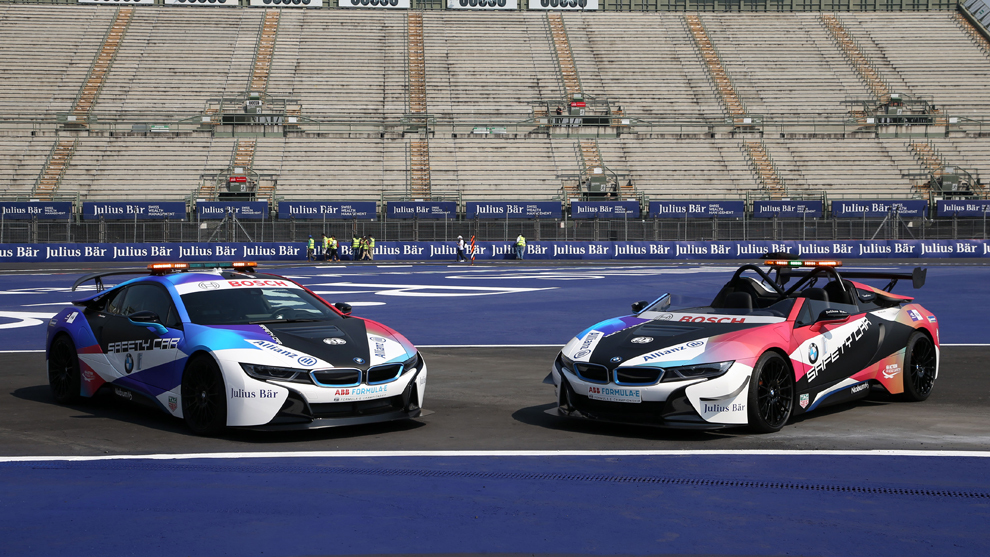 BMW i8 Coupé y Roadster Fórmula E Safety Car
