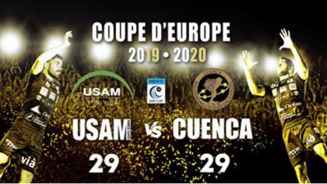 Cartel del partido entre el Nimes y el Cuenca /