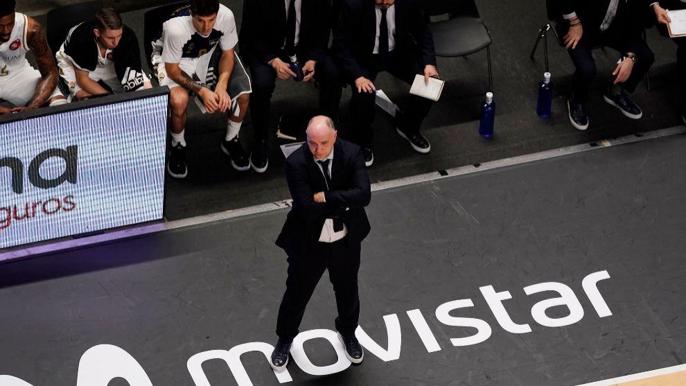 Pablo Laso, durante uno de los encuentros de la Copa del Rey.
