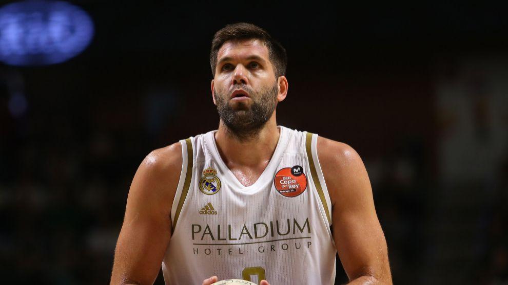 Felipe Reyes, en la semifinal ante el Valencia Basket.