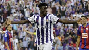Salisu celebra su gol al Eibar de esta temporada.