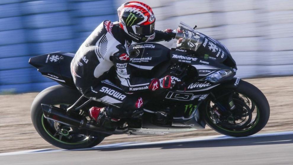 Jonathan Rea, en un test en Jerez con Kawasaki.
