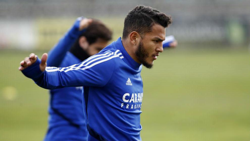 Luis Suárez, en un entrenamiento.