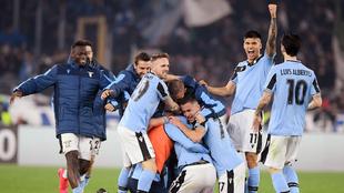 La Lazio celebra el triunfo
