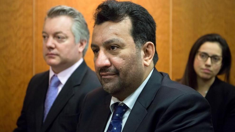 El presidente y propietario del Málaga, Abdullah Al-Thani, durante el...