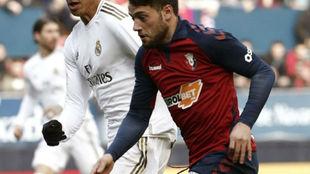 Arnáiz durante el partido ante el Real Madrid.