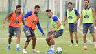 Somma y Luis Ruiz, durante un entrenamiento.