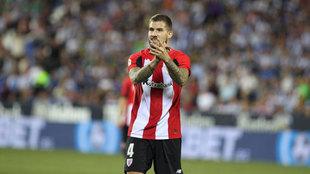 Iñigo Martínez, durante un partido con el Athletic.