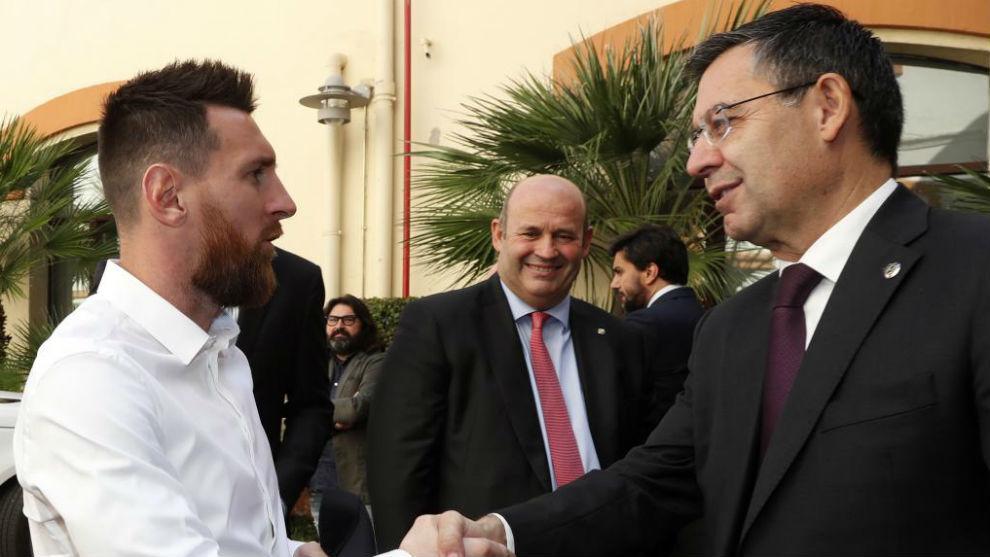 Messi y Bartomeu