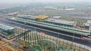 Vista aérea de las obras en el circuito de Vietnam.