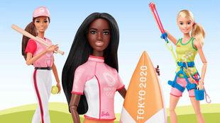 Diversas Barbies, con los diseños olímpicos