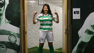 Anita Marcos, en su presentación con el Celtic.