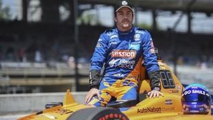 Alonso, con McLaren, el año pasado en Indy.