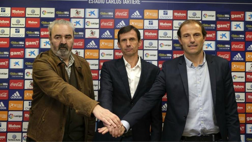 Presentación de Ziganda como entrenado del Oviedo