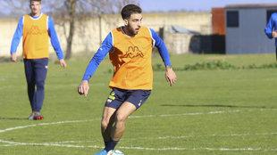 Pastrana, durante un partido con el Extremadura.