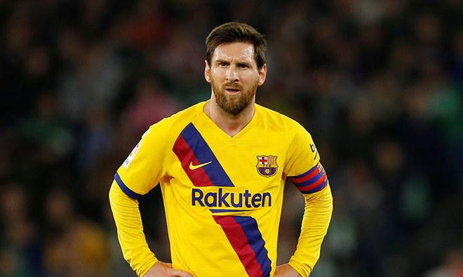 Messi durante la Copa del Rey