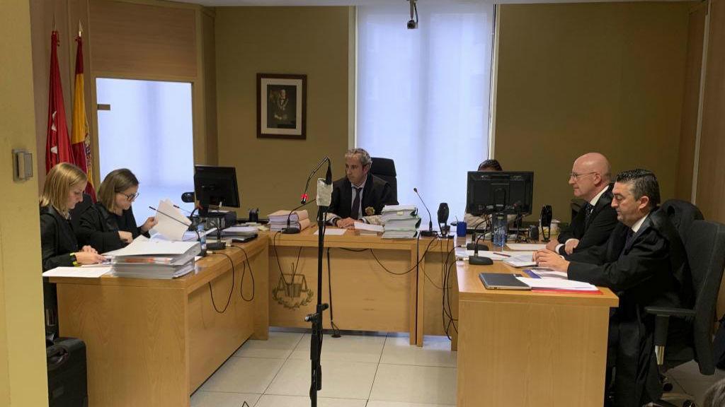 Los abogados de RFEF y LaLiga, en un juicio anterior.