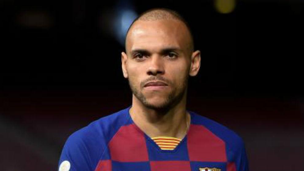 Braithwaite during his presentation as a Barcelona player.