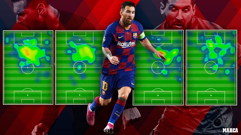 Messi, en un montaje