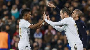 Rodrygo y Bale, en un partido