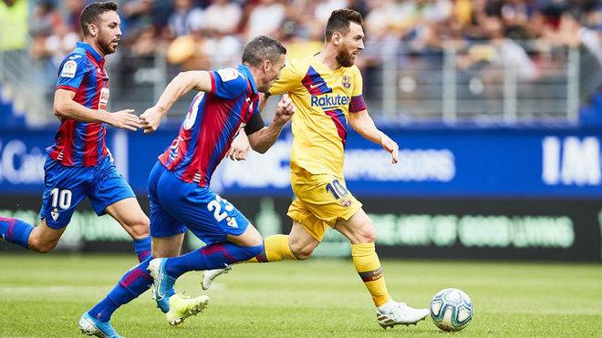 Messi, contra el Eibar en Ipurua.