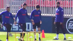 El Atlético, con todos menos el lesionado Lemar