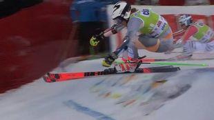 Rasmus Windingstad se lesionó en el gigante paralelo de Alta Badia,...