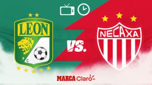 León vs Necaxa, horario y dónde ver en vivo.