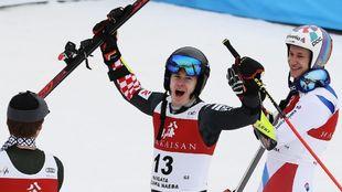 Zubcic da rienda suelta a su alegría tras obtener su primera victoria...