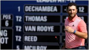 Jon Rahm, al final de la tercera vuelta del Campeonato del Mundo de...