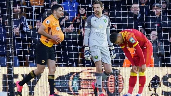 Raúl Jiménez se reencontró con el gol en juego con Wolves
