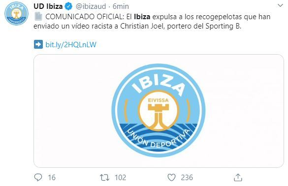 Club español expulsó a pasapelotas que trataron de