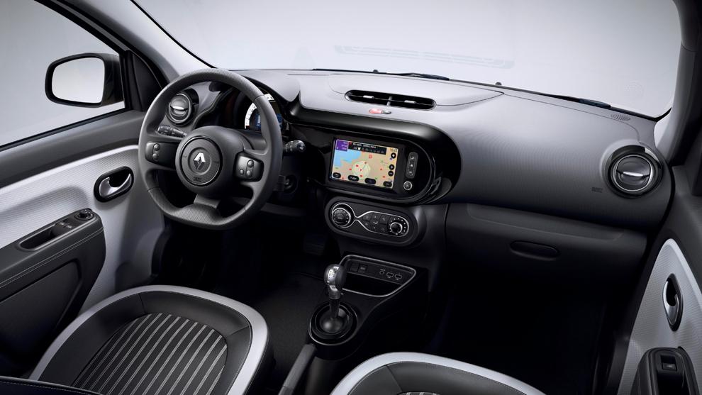 El interior del Twingo ZE es similar al de sus hermanos de gama...