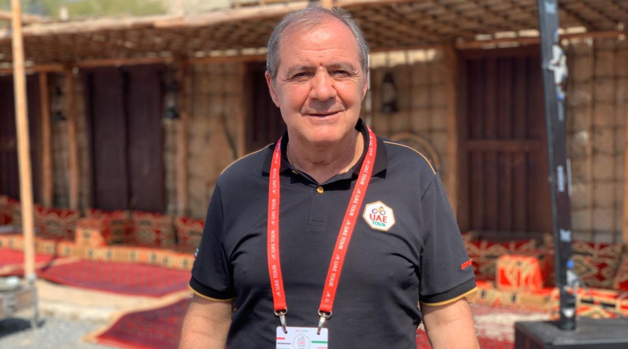 Mauro Vegni posa para MARCA en Hatta (Emiratos).
