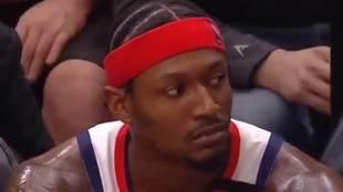 Bradley Beal en el banquillo tras anotar 53 puntos
